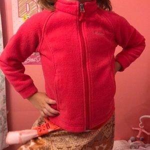 Columbia Pink Fleece.Girl's 4T
